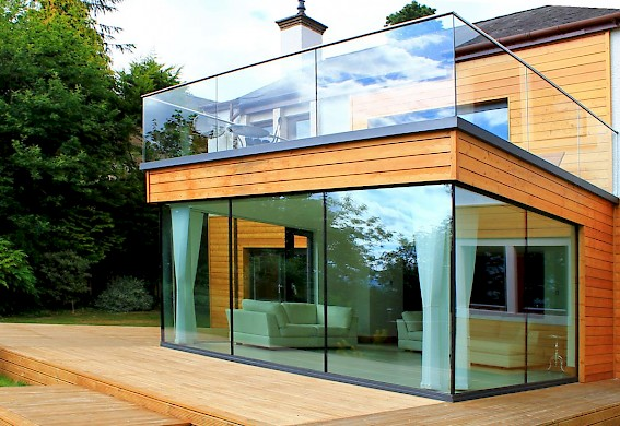 Glass extension, Bridge of Allan ...